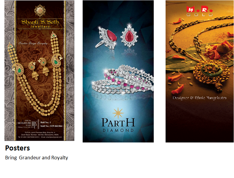 Posters for Jewellery Industry