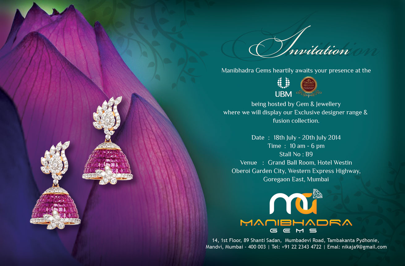 Manibhadra Gems Invitation Cards