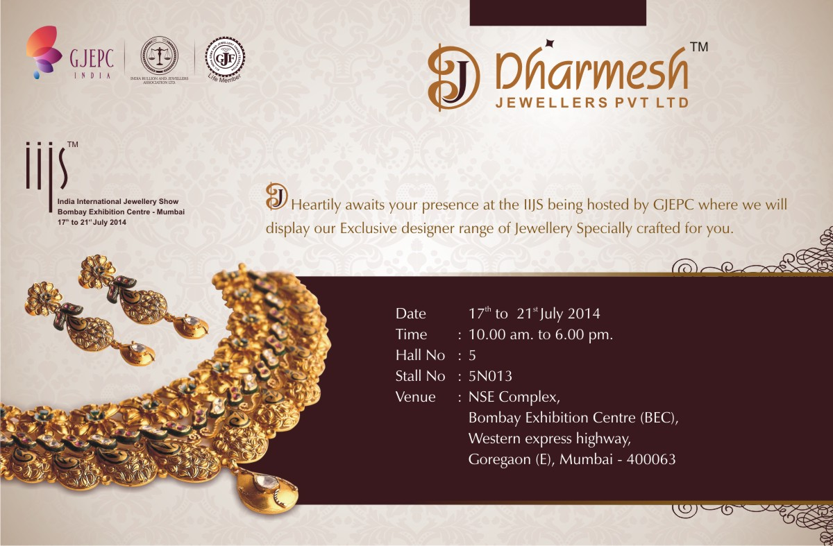 Dharmesh Jewellers Invitation cards