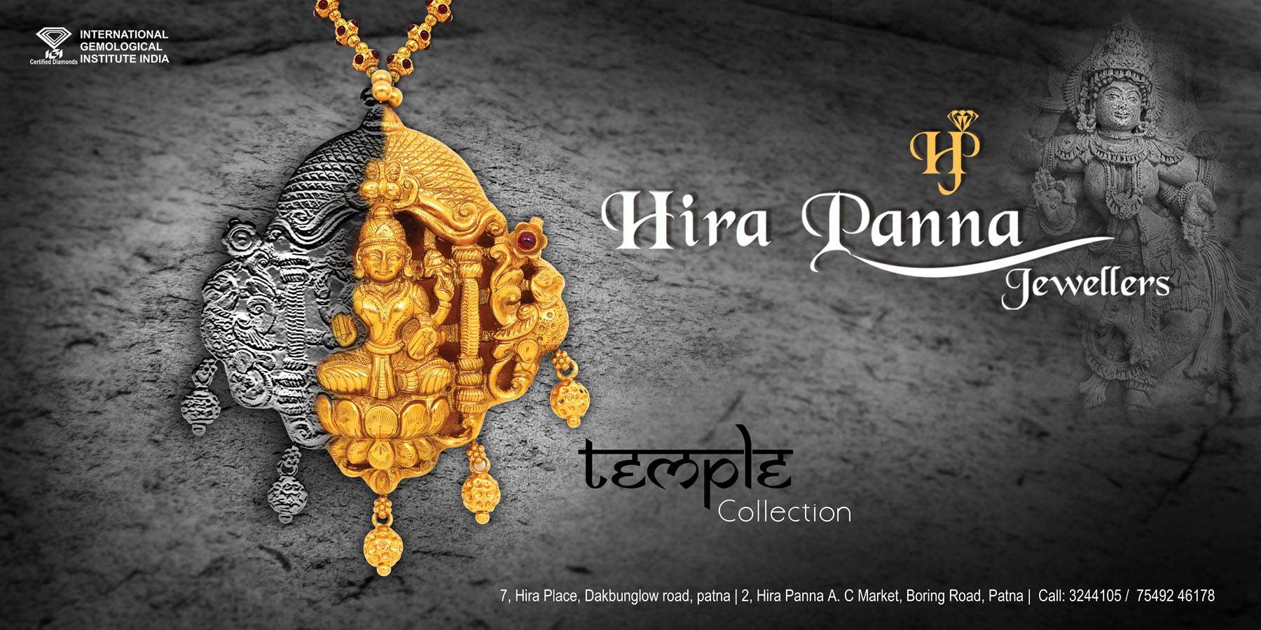 Posters for Hira Panna Jewellers