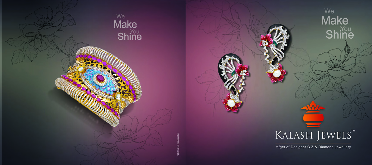 Brochures design of Kalash Jewels