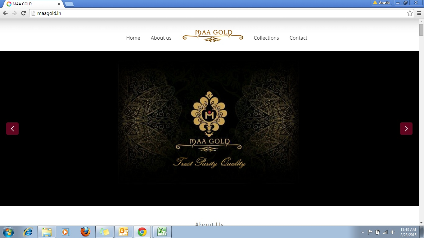 Maa Gold Website Design