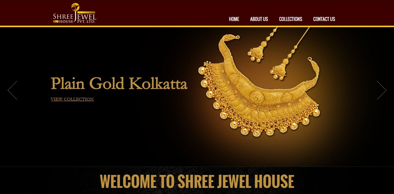 Website design for Shree Jewel House