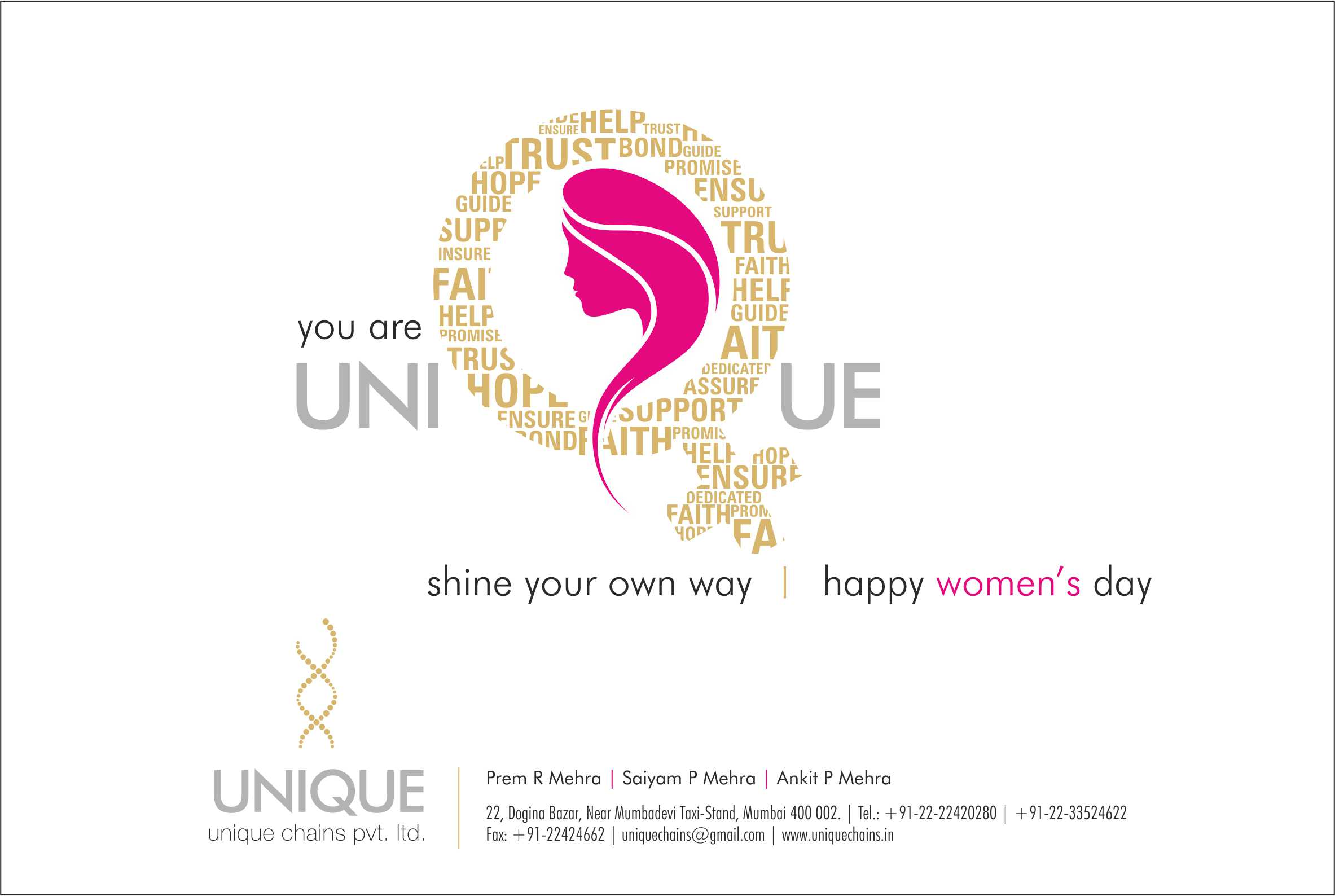 Ad Campaign for Unique Chains Women's day