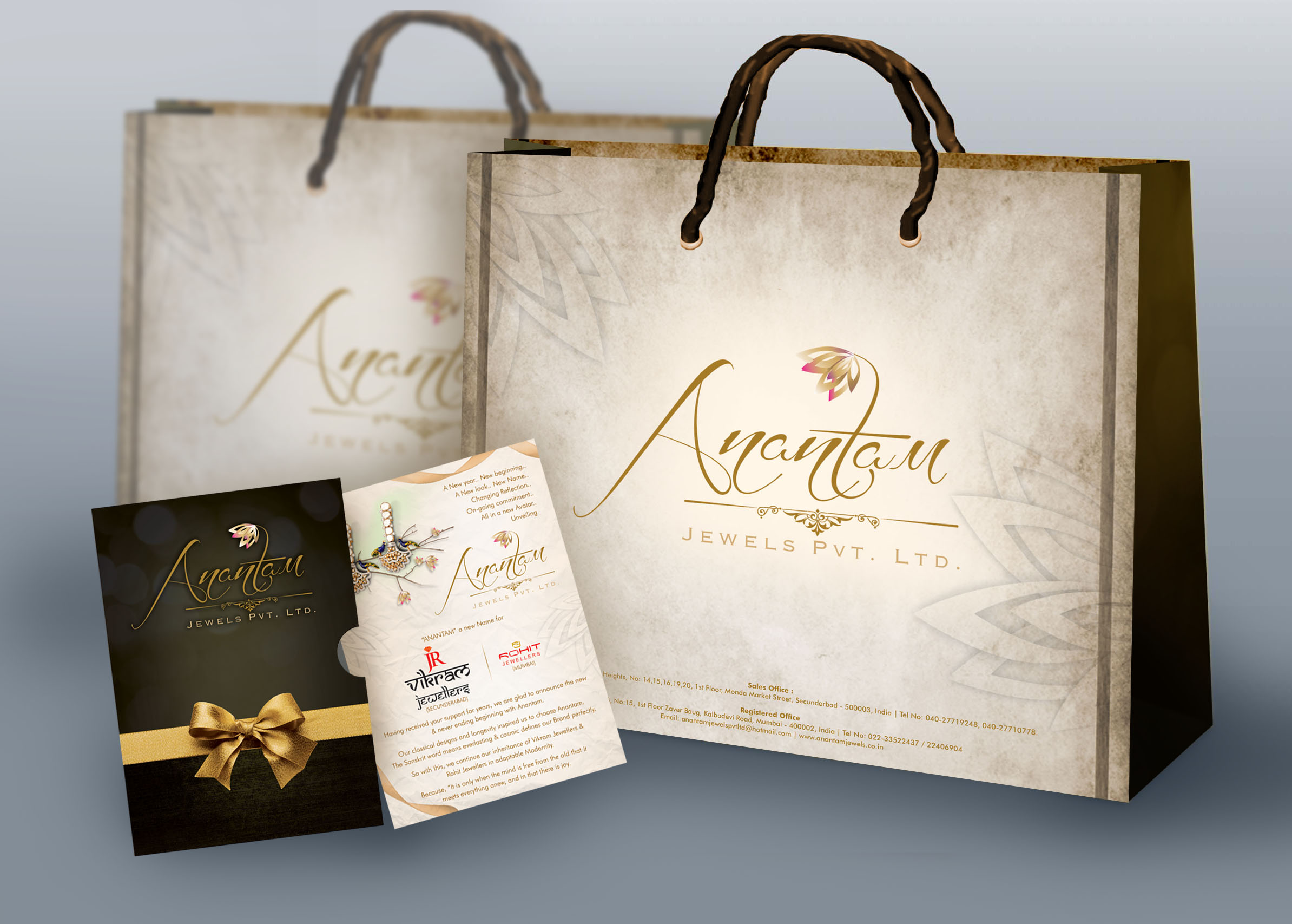 Packaging  design of Anantam Paper Bags