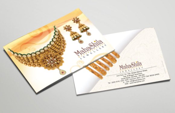 Jewellery Brochure designs of Mahashila